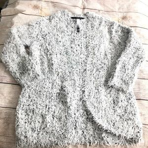 Kensie fluffy Cardigan gray size S